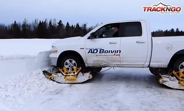「Track N Go」を装着すれば、こんな雪の壁も