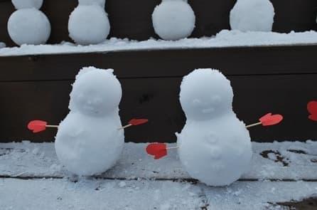 「雪だるま製造器」で作った全長50cmの雪だるま