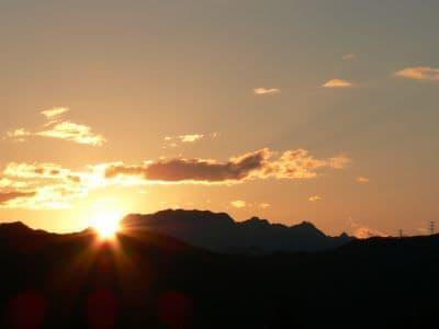 秩父の夕空