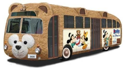 バス丸ごとダッフィーだよ! (c)Disney