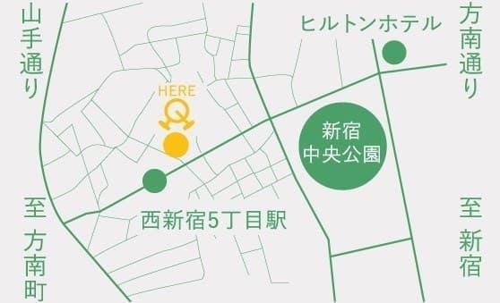 「PEDALRest(ペダレスト)西新宿」所在地