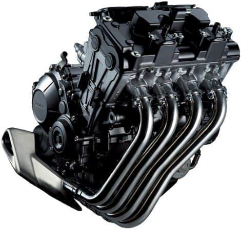 新開発の水冷・4ストローク・DOHC・直列4気筒650cc エンジン