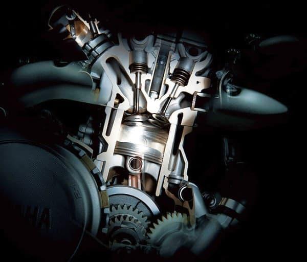 「WR250R」に搭載される4スト DOHC 単気筒エンジン