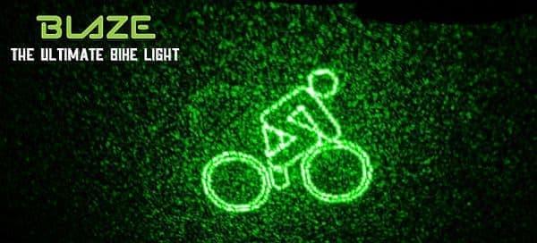 レーザー光線の特徴を活かした自転車用ライト「Blaze」