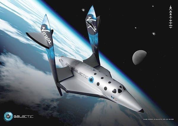 「ヴァージンギャラクティック社」による宇宙旅行(イメージ)