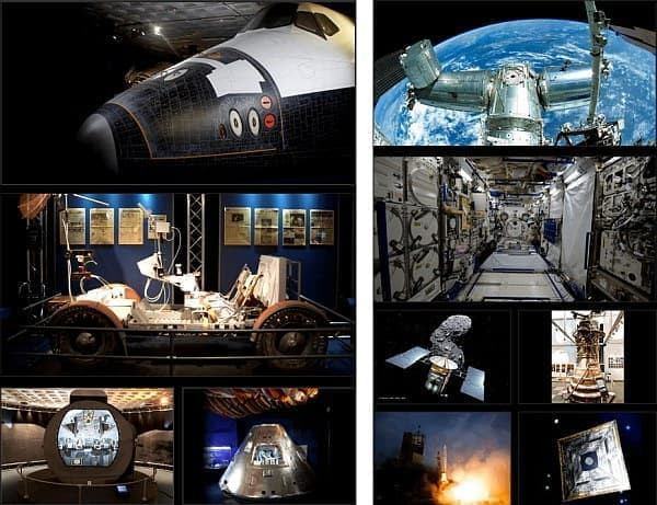 左が NASA の展示概要、右が JAXA の展示概要