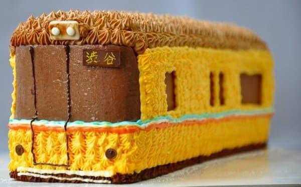 「メトロの缶詰」人気商品 「銀座線1000系3D電車ケーキ」