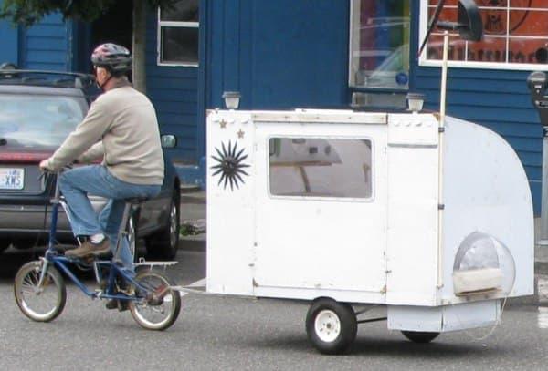 小さな自転車でも牽引可能
