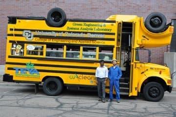 現在の「Topsy-Turvy」バス(写真出典:コロラド大学)