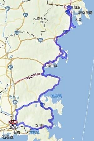 気仙沼フォンドのコース地図
