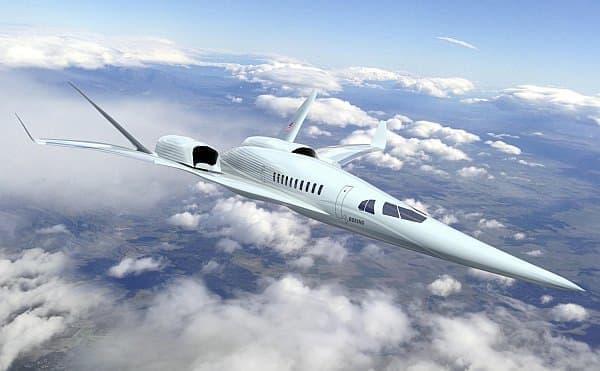 ボーイングによる新世代超音速旅客機予想図  (出典:NASA/ボーイング)