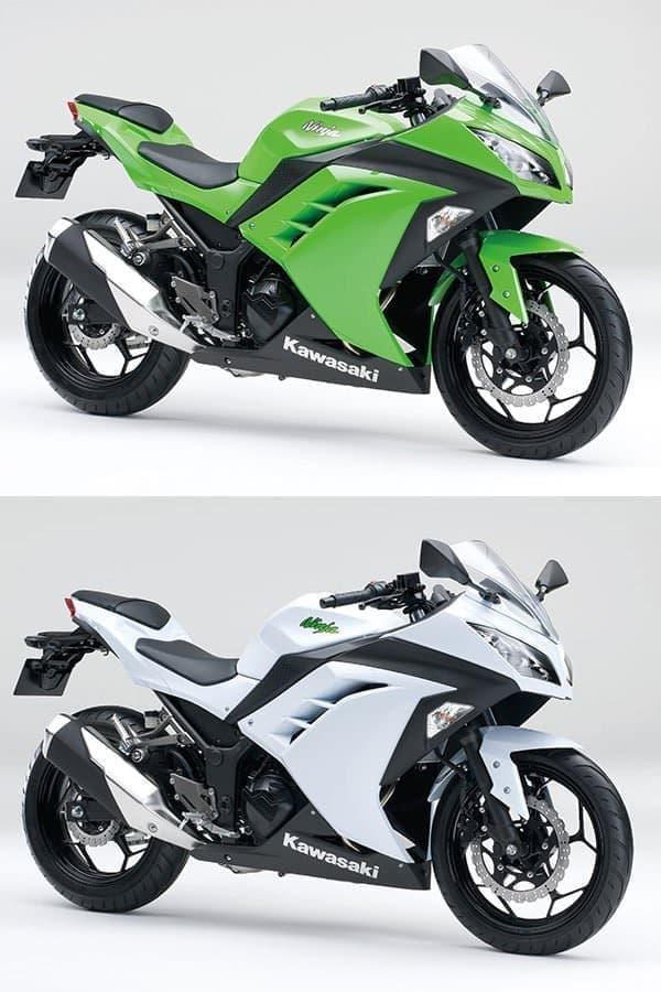 Ninja 250  ライムグリーン  パールスターダストホワイト