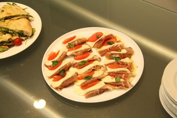 オープニングイベントにガンベロロッソの料理が登場