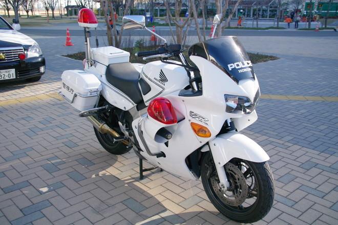 東京湾岸警察署の白バイ