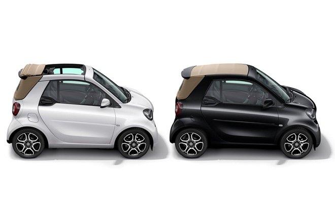 「smart cabrio macchiato」と「smart cabrio espresso」