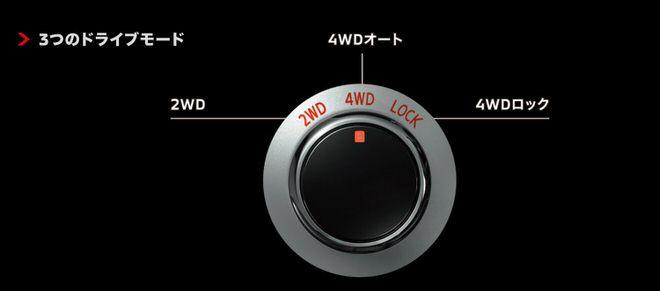 新型デリカD:5 ドライブモードセレクター