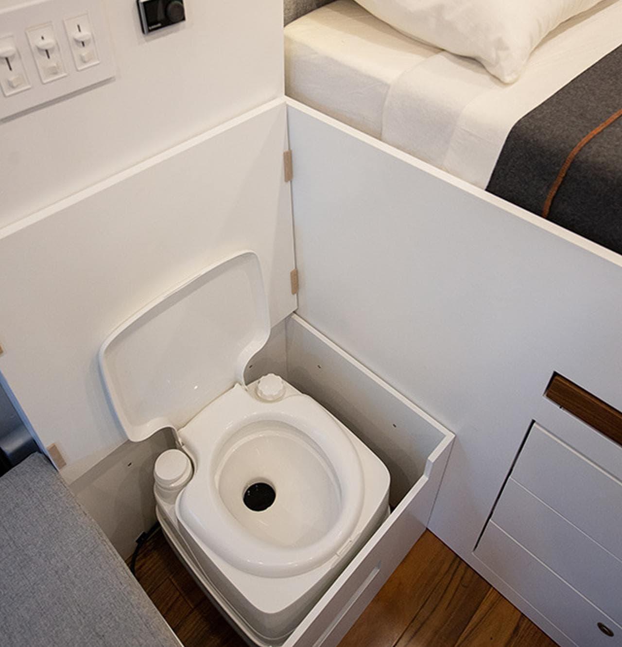 トイレがベッド下なのは日本人にはきついですね